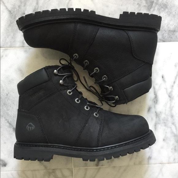 fec8e6c9d1f $120 Wolverine black suede mens work boots shoes